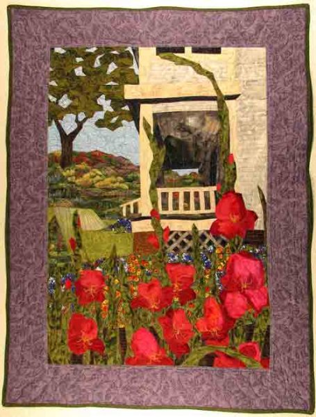 Grandpa's Porch. A 28 x 38 inch quilt from an England Design Studios pattern. Pieced and quilted by Rita Meyerhoff.